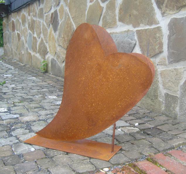 Herz 30x36cm deko rost metall gartendeko edelrost eisen ebay for Gartendeko rost herz