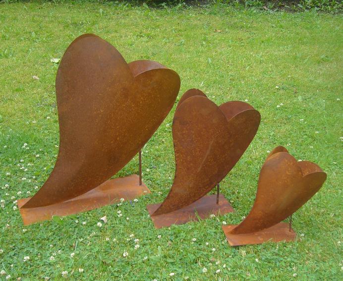 Herz 25x25cm Deko Rost Metall Gartendeko Edelrost Eisen Ebay