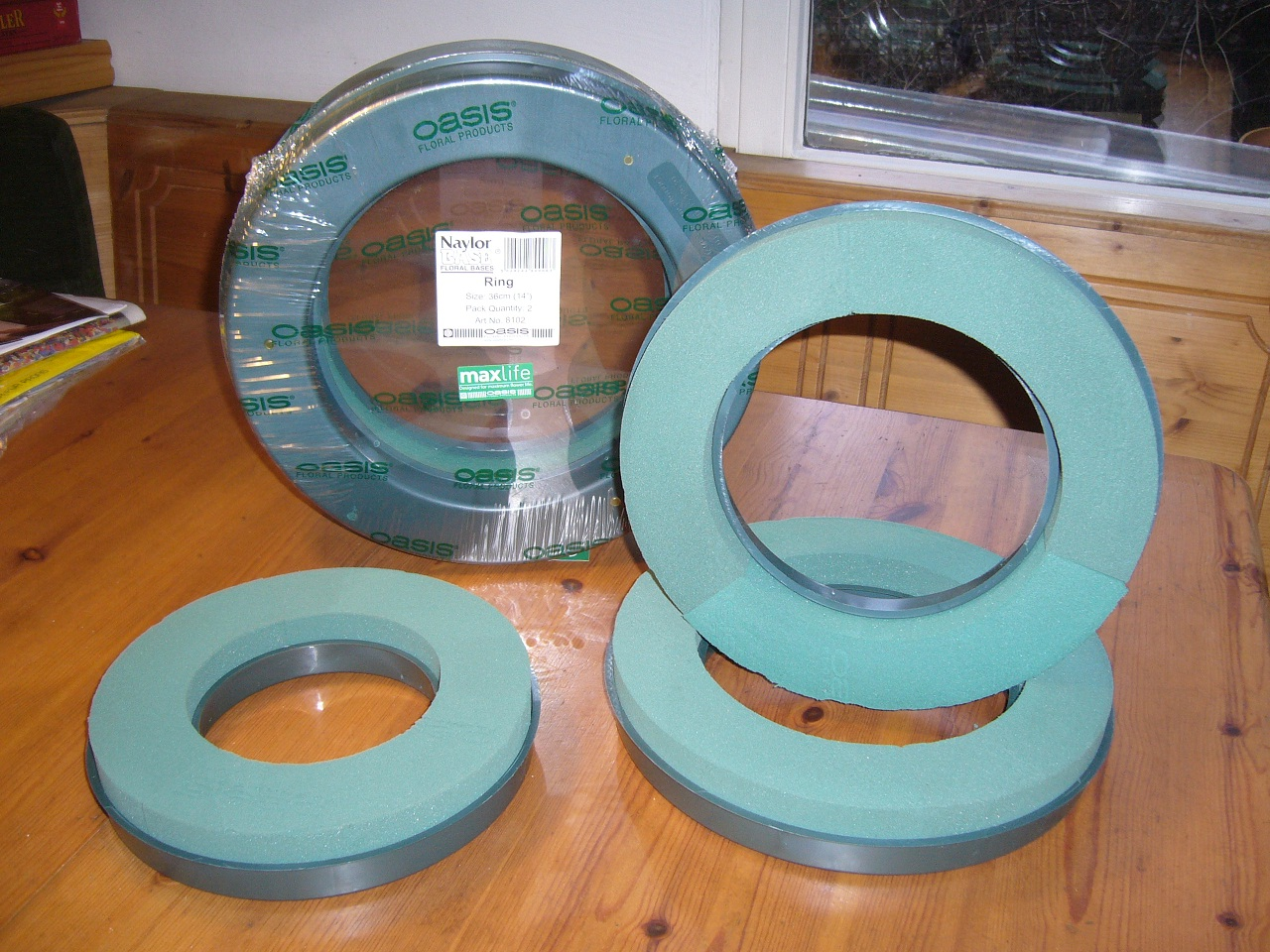 ring 30 cm oasis professional put foam plug moss joss wreath ebay. Black Bedroom Furniture Sets. Home Design Ideas