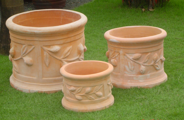 blumentopf terracotta terrakotta blumenk bel bertopf blument pfe garten deko a ebay. Black Bedroom Furniture Sets. Home Design Ideas